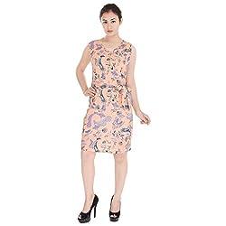 Beautiful Cotton Printed Multicolor Western Dress