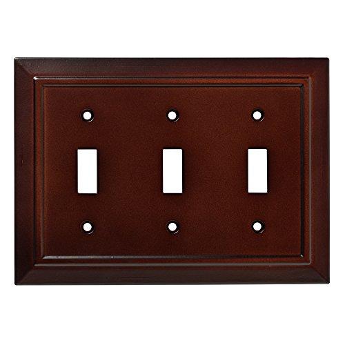 Franklin Brass W35249-ESO-C Classic Architecture Triple Switch Wall Plate/Switch Plate/Cover, Espresso (Espresso Wall Plate compare prices)