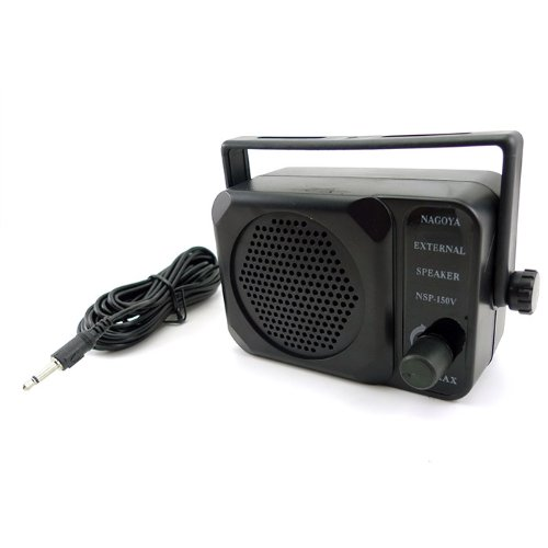Zeadio 3.5Mm Jack Adjustable Volume Communication Ham Mini External Speaker For Motorola Kenwood Yaesu Midland Icom Hyt Mobile Transceiver Cb Radio