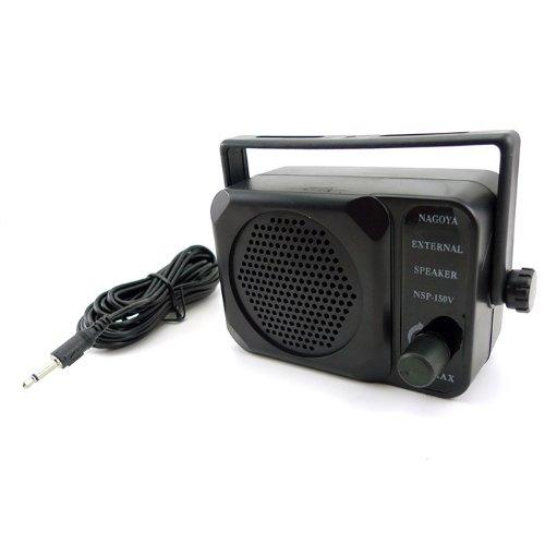Zeadio 3.5Mm Jack Adjustable Volume Communication Ham Mini External Speaker For Motorola Kenwood Yaesu Midland Icom Hyt Mobile Transceiver Cb Radio