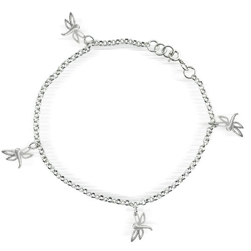 Bling Jewelry 925 Sterling Silver Multi Dragonflies
