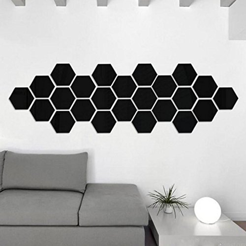 decorie-12pcs-3d-art-diy-hexagon-mirror-vinyl-wall-sticker-for-home-decor-464023mm-black