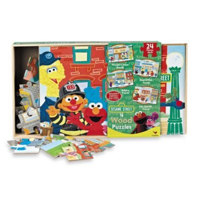Sesame Street 4-pack Wooden Puzzles - 1