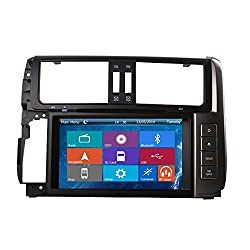 See Crusade Car DVD Player for Toyota Prado 2010-2013 Support 3g,1080p,iphone 6s/5s,external Mic,usb/sd/gps/fm/am Radio 8 Inch Hd Touch Screen Stereo Navigation System+ Reverse Car Rear Camara + Free Map Details