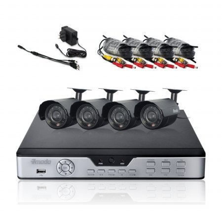 Zmodo PKD-DK0866-500GB  8 Channel H.264 DVR with 500GB + 4 x 420TVL 6mm Outdoor Camera CCTV Security Kit