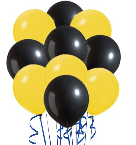 Perfect Color Inflatables Yellow & Black Variety Pack of 20 from SteelerMania
