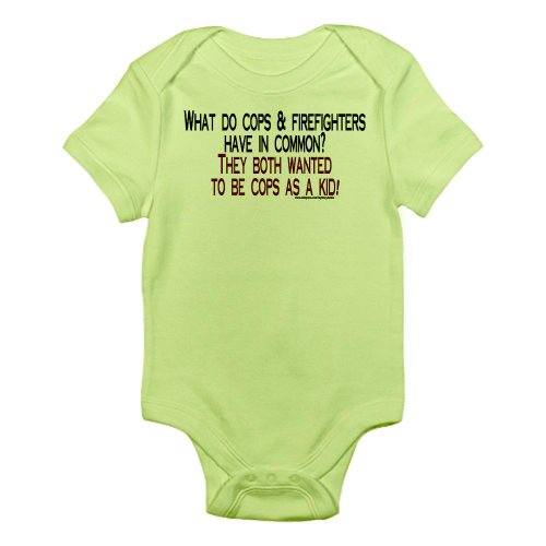 Cafepress What Do Cops Firefighters H Infant Bodysuit - 3-6M Kiwi front-510120