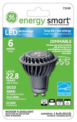 G E Lighting 71240 Ge 6W Mr16 Led Bulb - Quantity 3