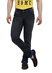 Lenox 7040-1 Men's Stretchable Slim Fit Denim Jeans (Size : 30)