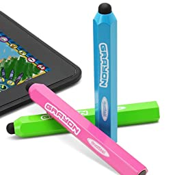 GreatShield Grayon Kids Stylus Pen for Tablets, Smartphones and Learning Devices - Works with Kindle Fire HD 6 (2014) / HD 8 (2015) / HD 10 (2015), Kindle, Paperwhite, Voyage, iPad, and more