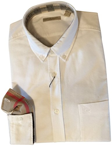 Burberry Brit Fred 100% Cotton Casual Button-down Shirt White Large