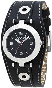 Rip Curl SOHO A2289G - Reloj para niñas de cuarzo, correa de piel color negro
