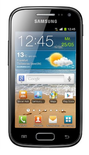 Samsung Galaxy Ace 2 I8160 Smartphone (9,7 cm (3,8 Zoll) Touchscreen, 5 Megapixel Kamera, Android 2.3) onyx-black ohne NFC