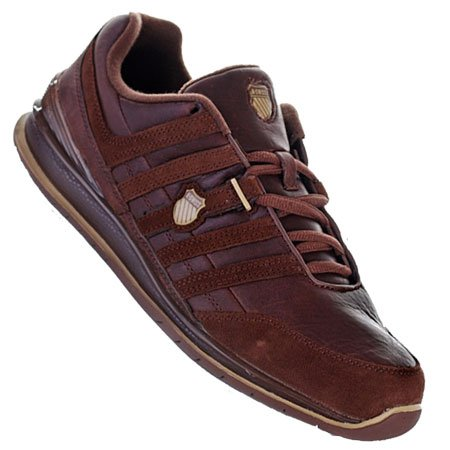 K-Swiss Shield LE Leather Trainers Brown Mens Size 8.5
