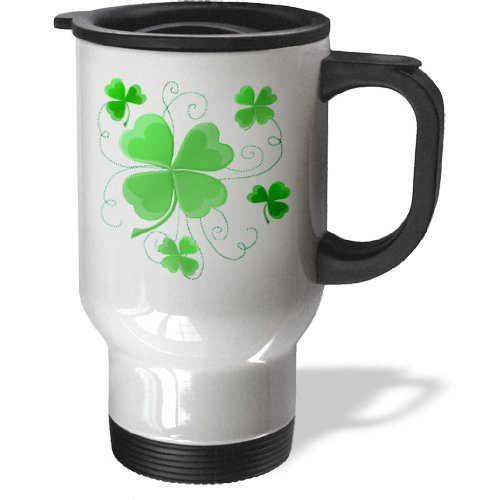 tm_11678 Dream Essence Designs St Patricks Day - This design is of some lucky Shamrocks just in time for St Patricks Day - Travel Mug