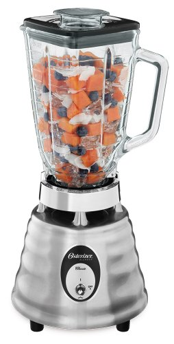 Oster 4093-008 5-Cup Glass Jar 2-Speed Beehive Blender, Brushed Stainless front-13839