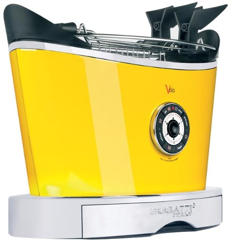 Bugatti VOLO - 2 Slice Electronic Toaster Yellow