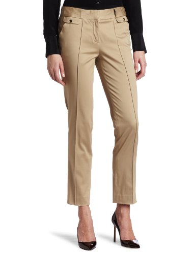 AK Anne Klein Women's Sateen Pintuck Slim Pant