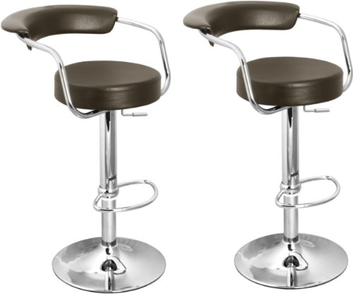 Brand New Pair of Brown Faux Leather Kitchen/Bar stools by Lamboro