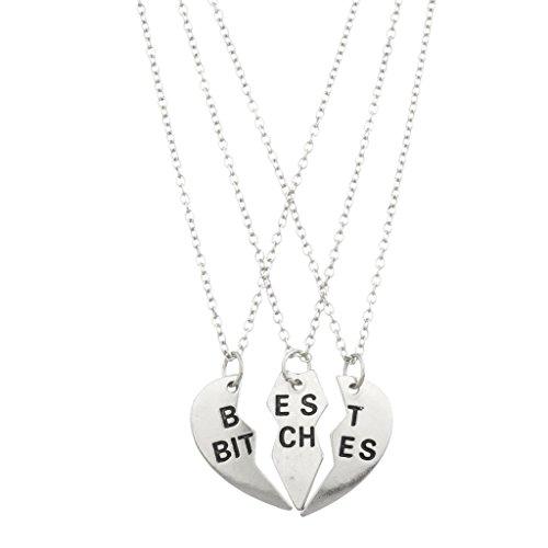 lux-accessoires-theme-femelles-best-friends-forever-collier-femme-coeur-3-pc-set