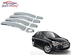 Auto Pearl - Premium Quality Chrome Door Handle Latch Cover - Ford Fiesta Classic