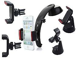 Skoot Multipurpose All-in-one Car Holder Kit for Mobiles - Black
