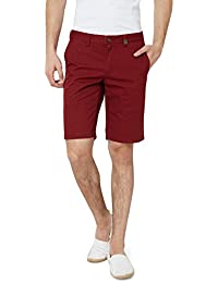 Hammock Men's Solid Chino Shorts - Deep Red