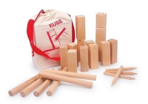 Deluxe Kubb Viking Chess Wooden Garden Game - Extra Large