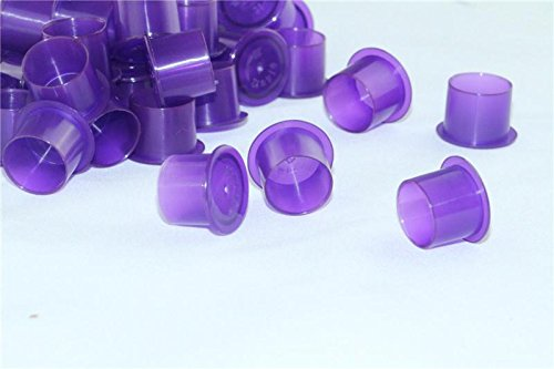 CINRA® 200pcs Plastic Medium Purple Steady Plastic Tattoo Ink Cap New designed wide cup base ink cups Tattoo Supplies