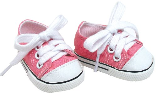 18 Inch Pink Doll Shoes for American Girl Dolls, Pale Pink Doll Sneakers Amazon.com