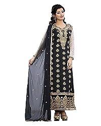 Maruti Suit Women's Viscose Suit Material (M1007, Black, Free Size)