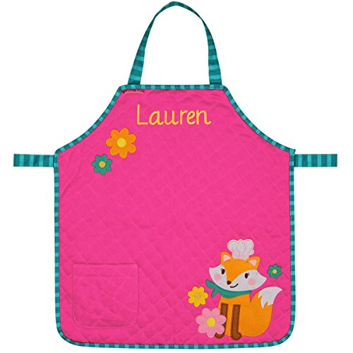 Personalized Stephen Joseph Quilted Fox Apron with Embroidered Name