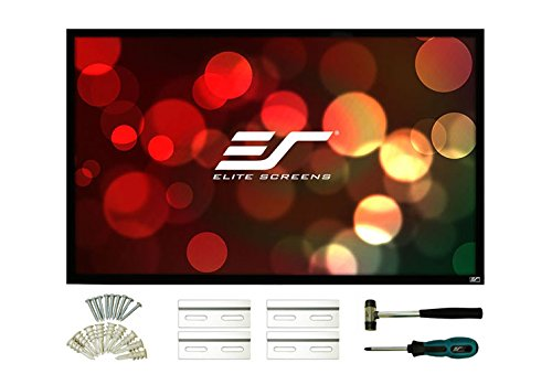 Elite Screens R84WH2 ezFrame 2 Series, Fixed Frame Front Projection Screen, installation kit included 84″(16:9)