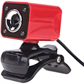 Generic NG-150 USB 2.0 12 Megapixel 360 Degree Web Cam With MIC For Desktop Red