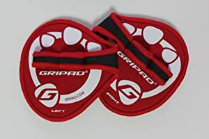 Gripad Workout Grips, Red