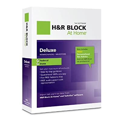 H&R Block At Home Deluxe + State 2012