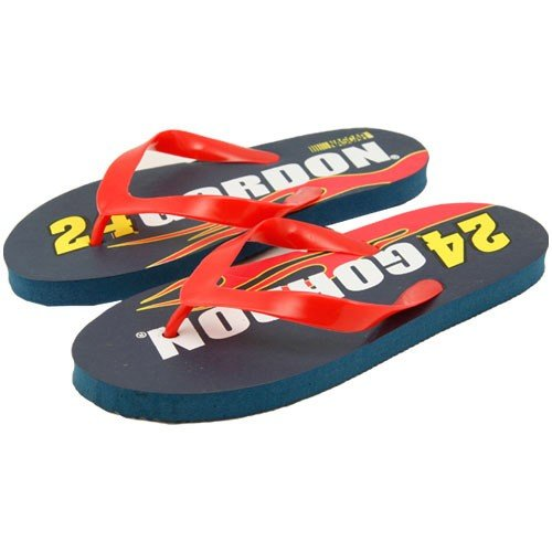 Cheap Jeff Gordon Navy Blue Flip Flops (B001BGCCY4)