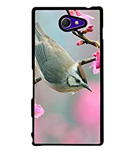 printtech Rare Bire Beautiful Back Case Cover for Sony Xperia M2 Dual D2302 , Sony Xperia M2