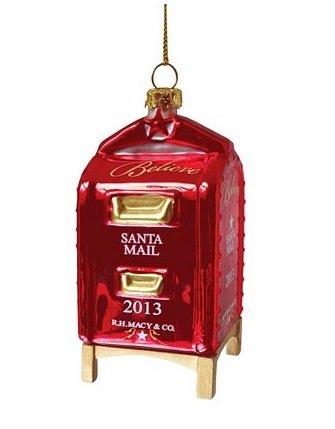 macys-si-virginia-2013-rojo-buzon-adorno-de-navidad-de-vidrio