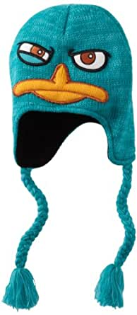 Disney Men's Perry 3D Face Peruvian Hat, Teal, One Size