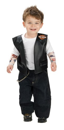 Rubie'S Costume Harley Davidson Motorcycle Dress Up Kit, Classic Print, 6-12 Months