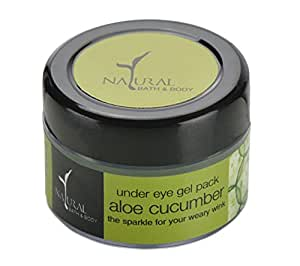 Natural Bath and Body Aloe Cucumber Under Eye Gel Pack