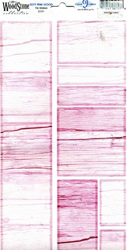 The Woodstone Collection Soft Pink Wood Tile Stickers Photo-Safe