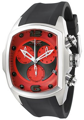 Invicta Men's 6098 Lupah Collection Revolution Chronograph Black Rubber Watch