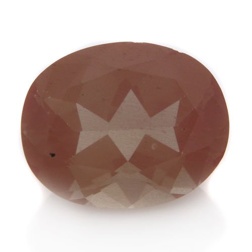 Natural Africa Red Andesine Loose Gemstone Oval Cut 10*8mm 2.45cts VS Grade