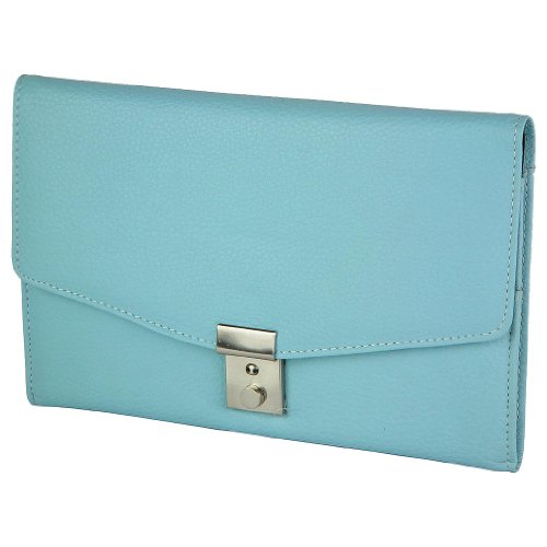Leather Travel Document Holder By 1642 In Baby Blue Travel Purse