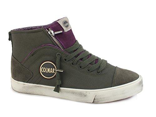 COLMAR Durden Colors sneakers zip sportiva ECO PELLE GREY MAUVE 061 38