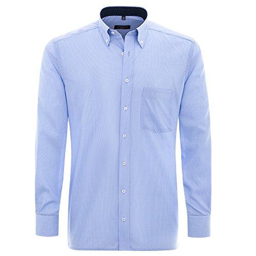eterna-uomini-modern-fit-langarmhemd-karo-popeline-blau-42-h-normal-65cm