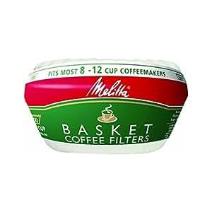 Melitta White Coffee Basket Filter, 100 Count