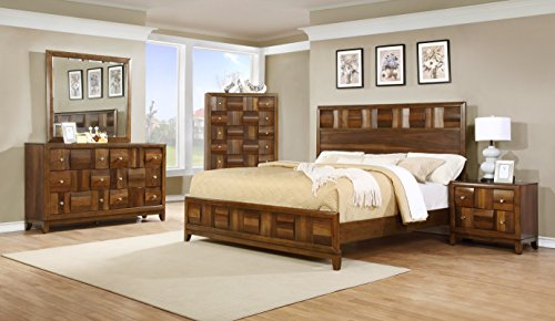 Roundhill Furniture Calais Solid Wood Construction Bedroom S